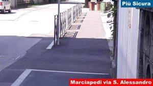 Marciapiede via San Alessandro