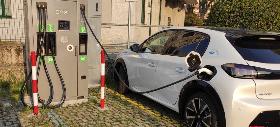 Ricarica auto elettriche - p.za Pertini